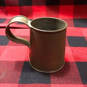 Antique Tin Mug Late 1800's To 1900's Rare Find
